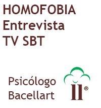 Homofobia Porque? Entrevista TV SBT - Bacellart Psicólogo USP
