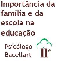 Importância da Família e da Escola na Educação Bacellart Psicólogo USP