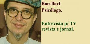 Psicólogo entrevista para tv, revista e jornal.